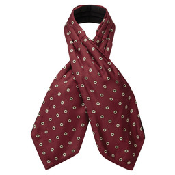 Schoffel Country Silk Shooting Cravat in Red