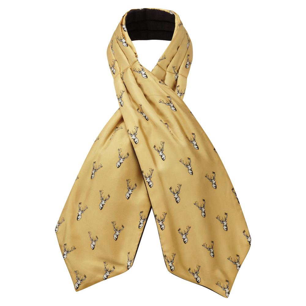 Silk Shooting Cravat Ochre