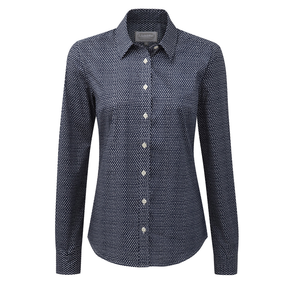 Suffolk Shirt Navy Dot