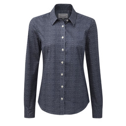 Schoffel Country Suffolk Shirt in Navy Dot