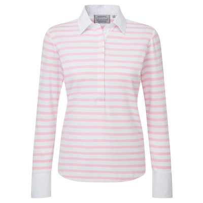 Schoffel Country Salcombe Shirt in Harbour Stripe Pink