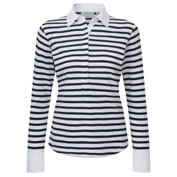 Schoffel Country Salcombe Shirt in Harbour Stripe Navy