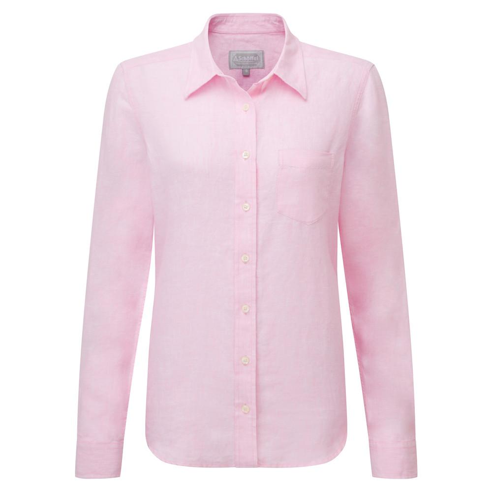 Saunton Linen Shirt Pink