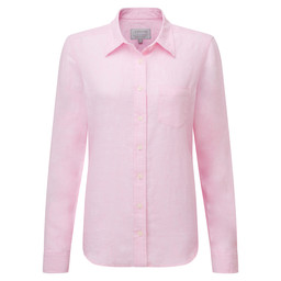 Schoffel Country Saunton Linen Shirt in Pink