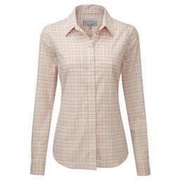 Schoffel Country Ladies Tattersall Shirt in Rose Tattersall
