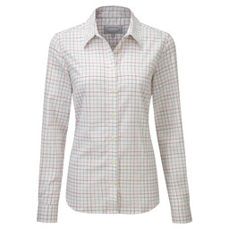 Schoffel Country Ladies Tattersall Shirt in Pink/Green Check