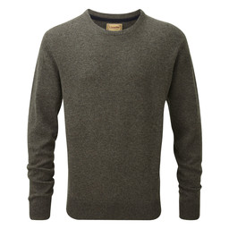 Schoffel Country Lambswool Crew Neck Jumper in Mole