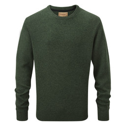 Schoffel Country Lambswool Crew Neck Jumper in Forest
