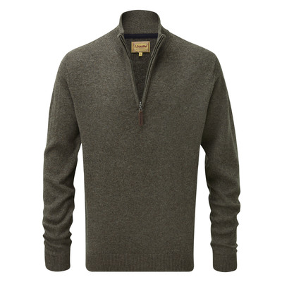 Schoffel Country Lambswool 1/4 Zip Jumper in Mole