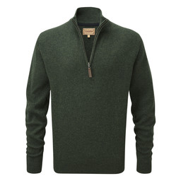 Schoffel Country Lambswool 1/4 Zip Jumper in Forest