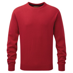 Schoffel Country Cotton Cashmere Crew Jumper in Rich Red