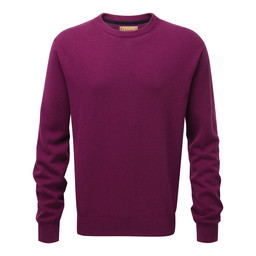 Schoffel Country Cotton Cashmere Crew Jumper in Plum