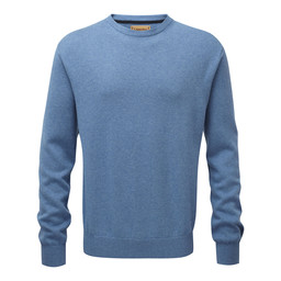 Schoffel Country Cotton Cashmere Crew Jumper in Denim