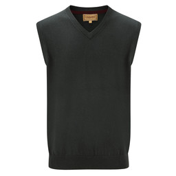 Cotton Cashmere Sleeveless V Neck Jumper