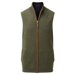 Schoffel Country Reversible Merino/Cashmere Gilet in Navy/Loden