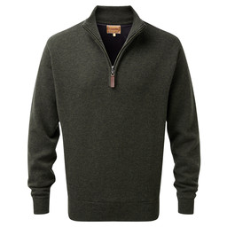 Lambswool Windstop 1/4 Zip Jumper