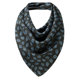 Schoffel Country Ladies Silk Scarf in Dark Olive/Blue