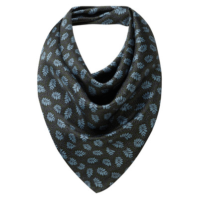 Ladies Silk Scarf Dark Olive/Blue