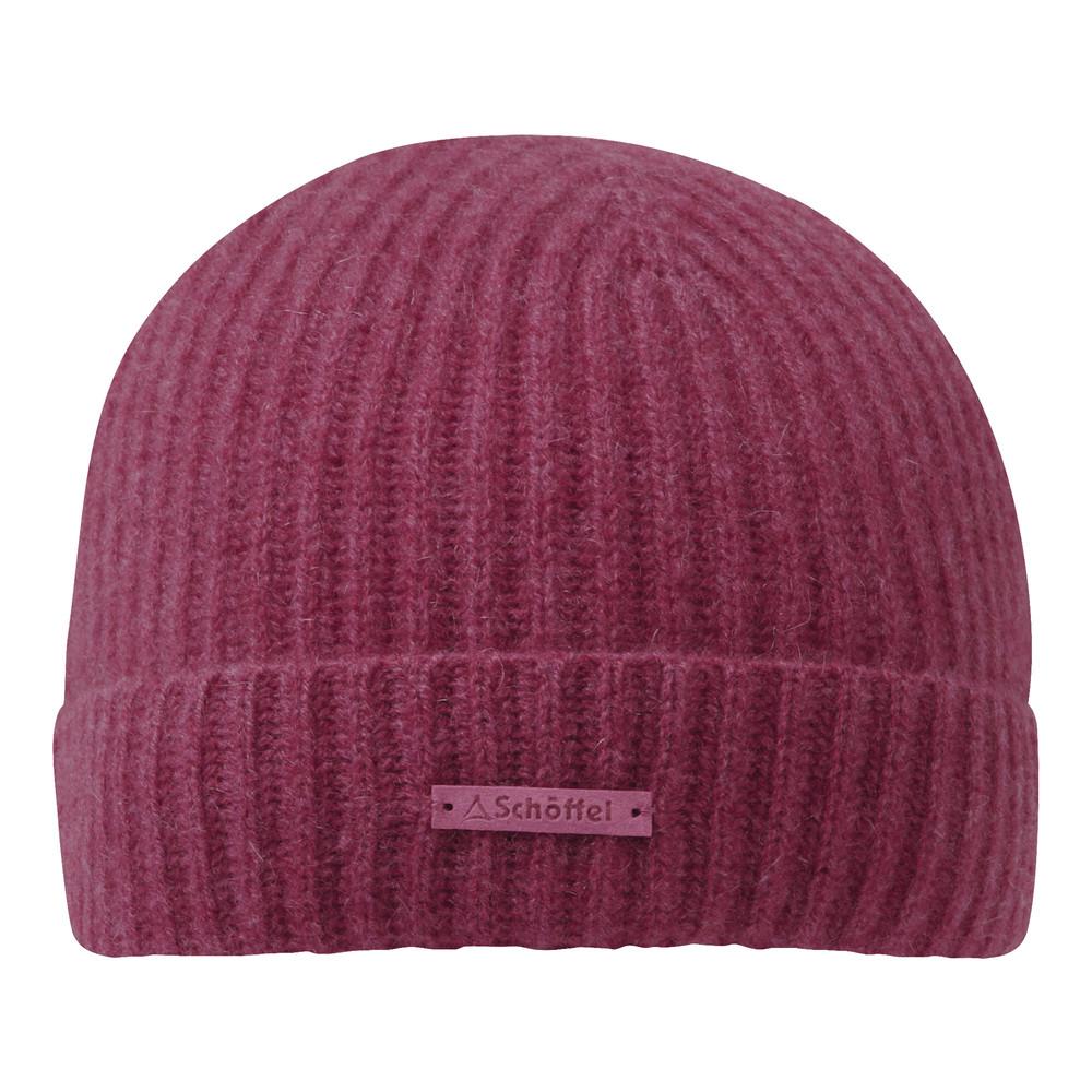 Cashmere Beanie Hat Raspberry