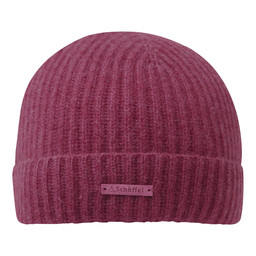 Schoffel Country Cashmere Beanie Hat in Raspberry