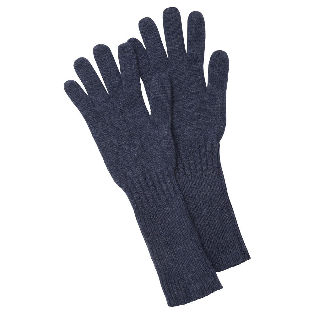 Cashmere Cable Glove Indigo