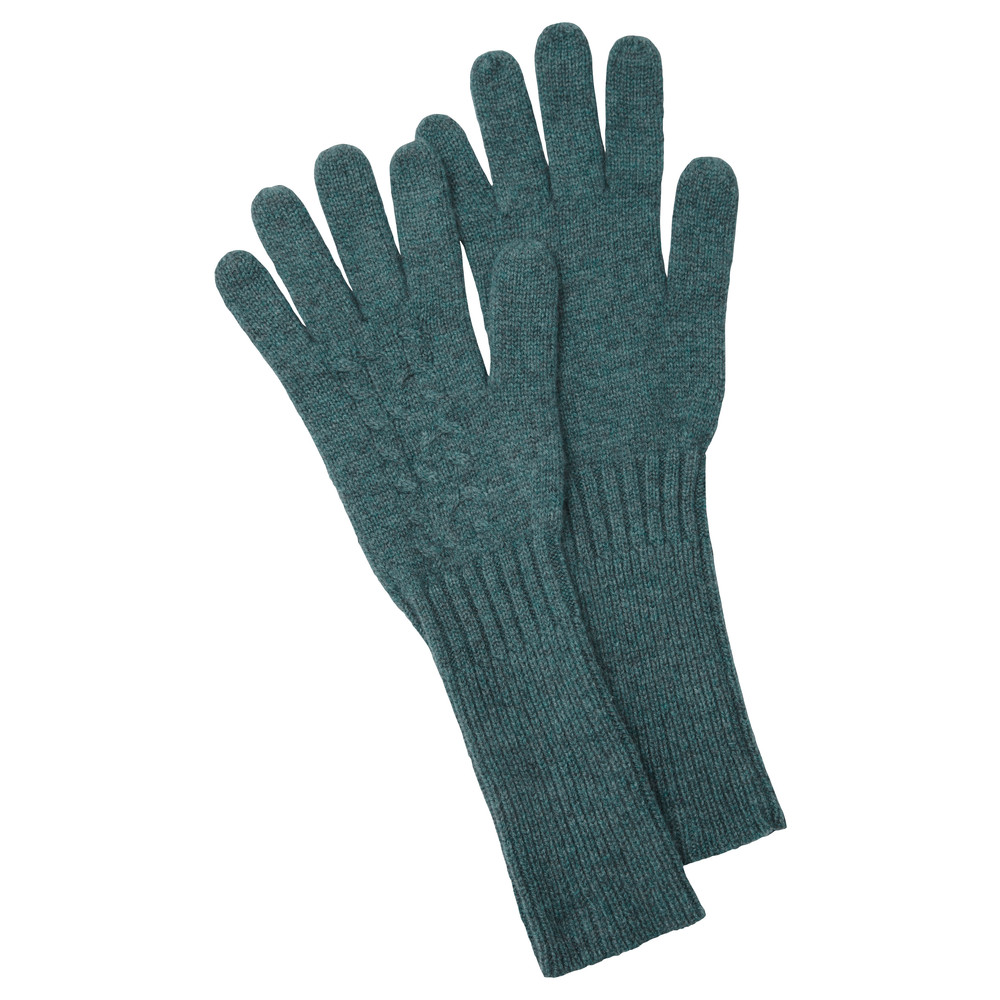 Cashmere Cable Glove Kingfisher