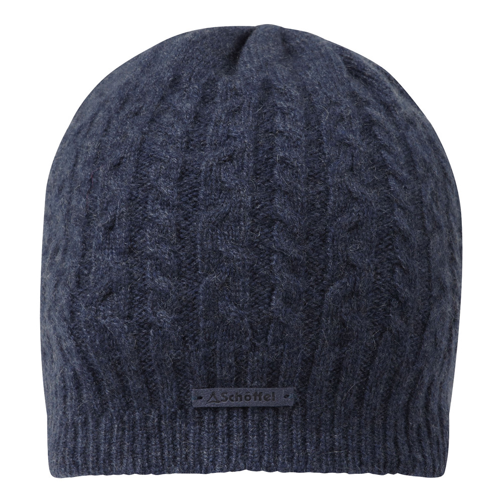 Cashmere Cable Hat Indigo