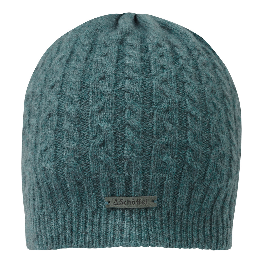 Cashmere Cable Hat Kingfisher