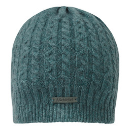 Schoffel Country Cashmere Cable Hat in Kingfisher