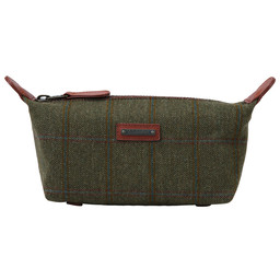 Schoffel Country Tweed Wash Bag in Sandringham Tweed