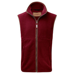 Schoffel Country Oakham Fleece Gilet in Burgundy
