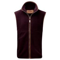 Schoffel Country Oakham Fleece Gilet in Aubergine