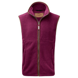 Schoffel Country Oakham Fleece Gilet in Plum