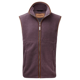 Schoffel Country Oakham Fleece Gilet in Mink/Heather