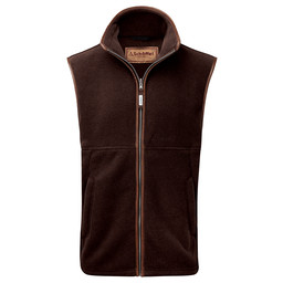 Schoffel Country Oakham Fleece Gilet in Espresso