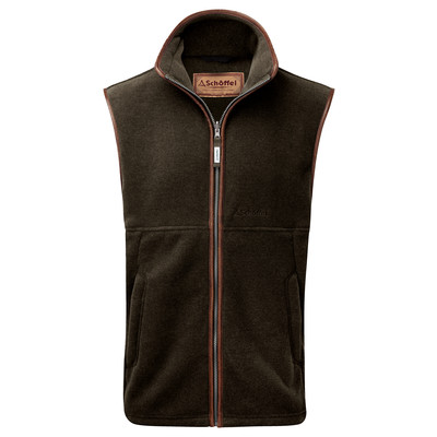 Oakham Fleece Gilet Dark Olive