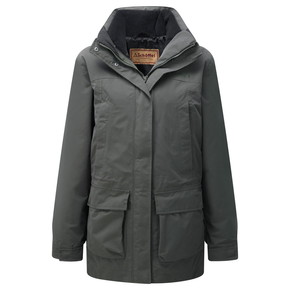 Uppingham 3 in 1 Coat Dark Olive