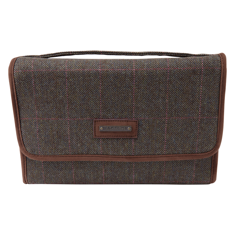 Tweed Fold Up Toiletry Bag Cavell Tweed
