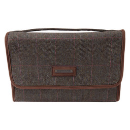 Tweed Fold Up Toiletry Bag