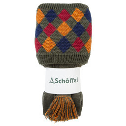 Schoffel Country Ptarmigan II Sock in Dk Olive/Ochre/Brick/Navy