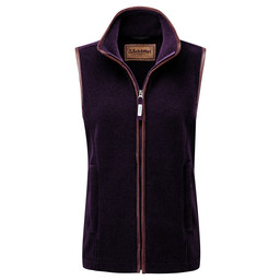Schoffel Country Lyndon II Fleece Gilet in Grape