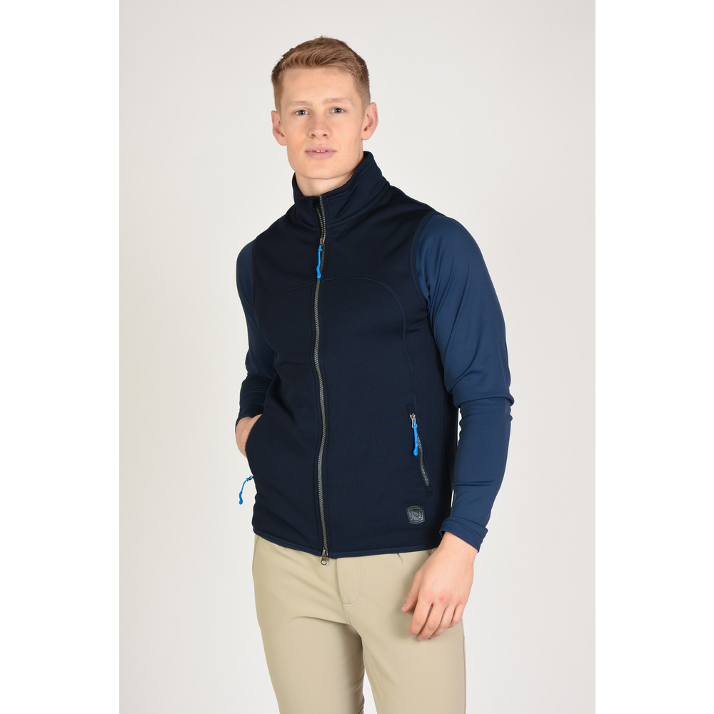 Bramham Fleece Vest Dark Navy