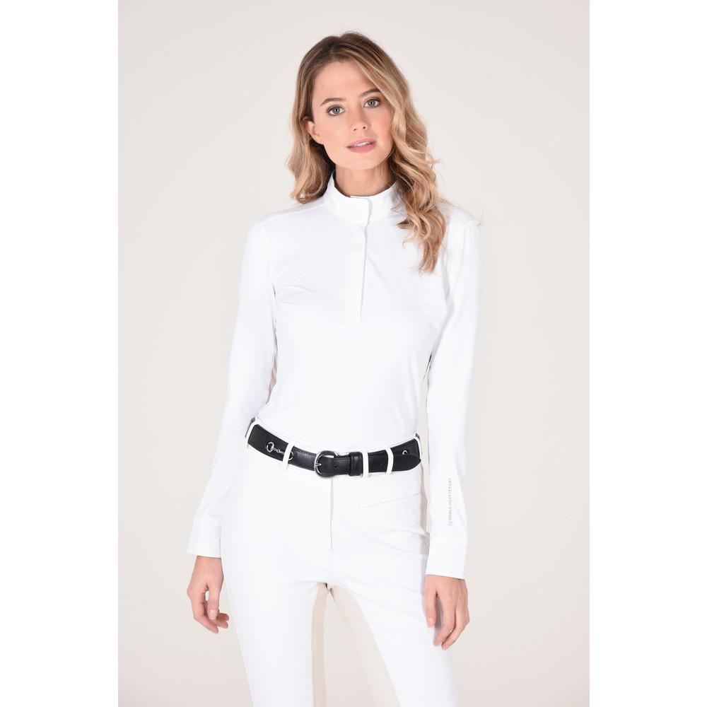 Allison Pull on Show Shirt White/Fox