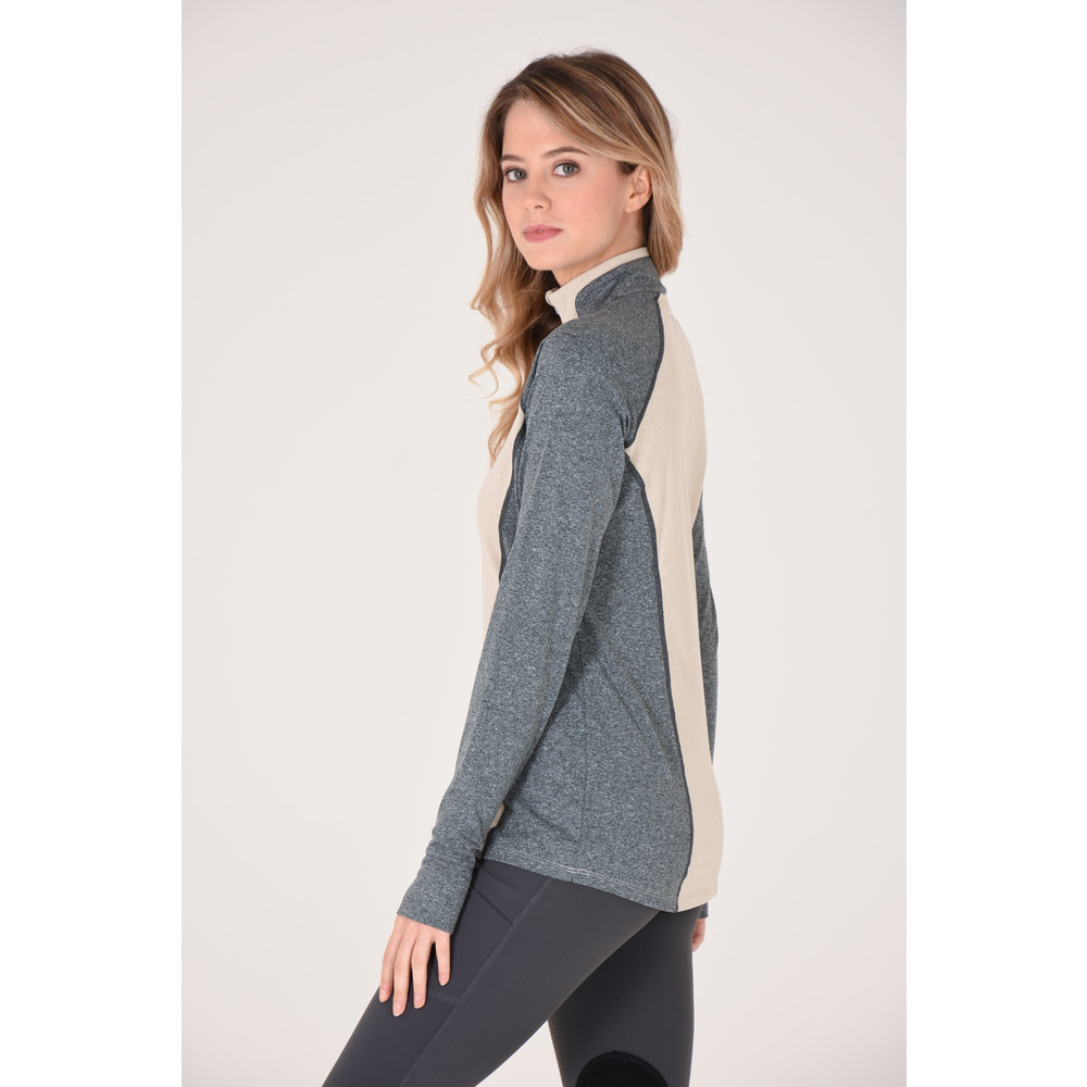 Athena 1/4 Zip Oatmeal Heather