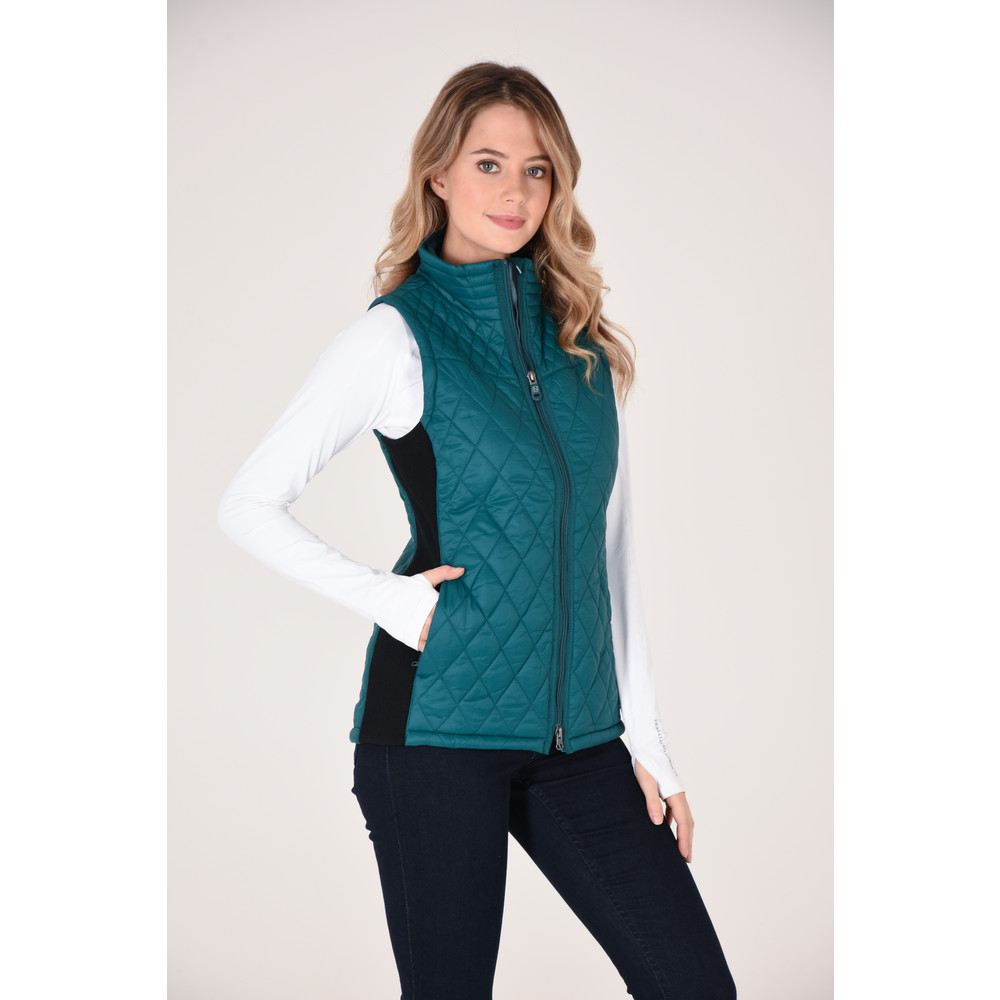 Classic Quilted Vest Deep Teal