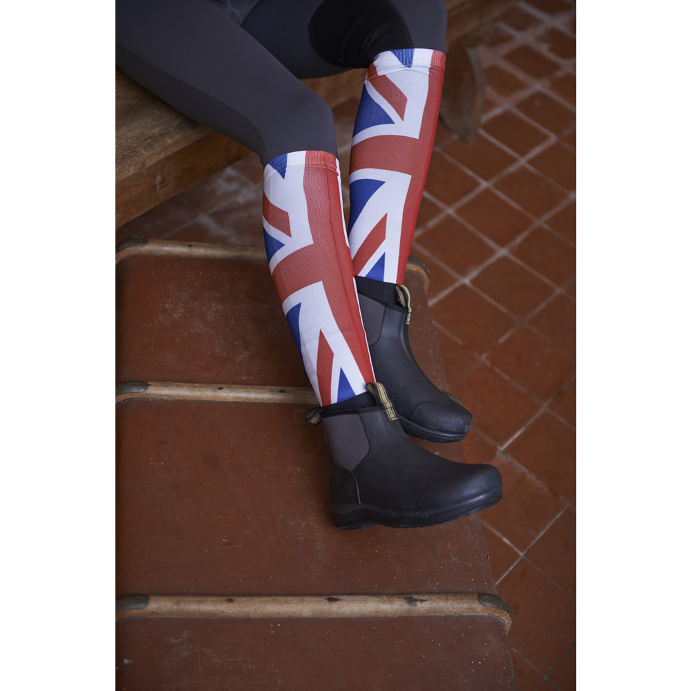Printed Over The Calf Peddies Union Jack
