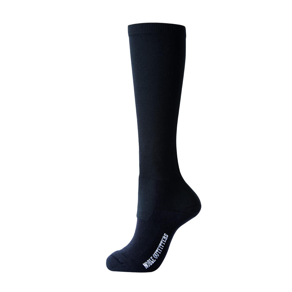 Solid Over The Calf Peddies Black