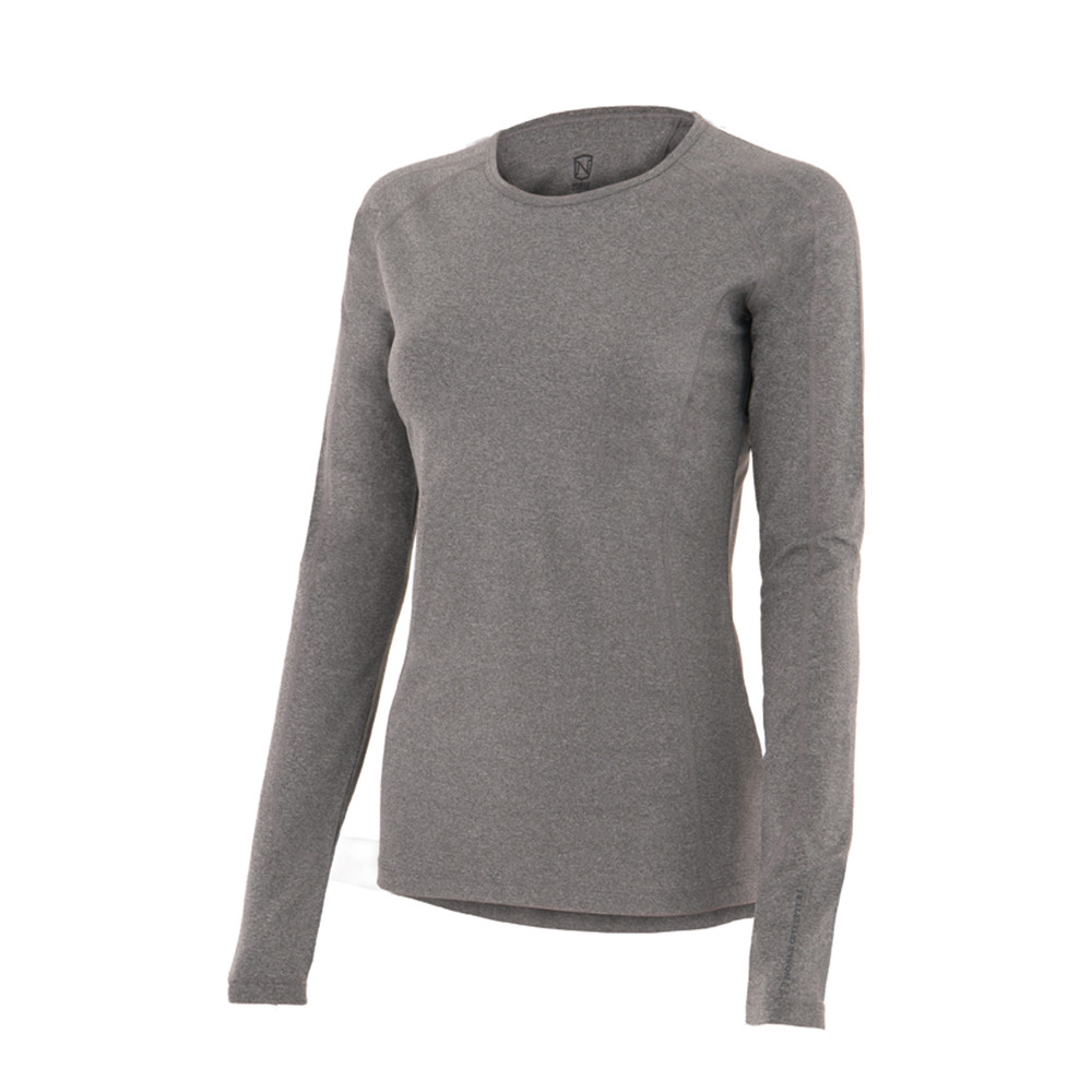 Hailey L/S Crew Heather Grey