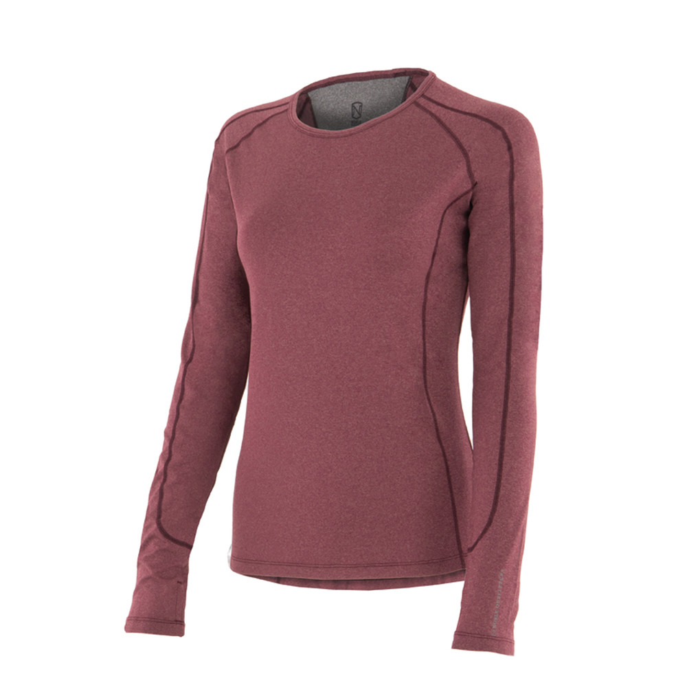 Hailey L/S Crew Wine Heather