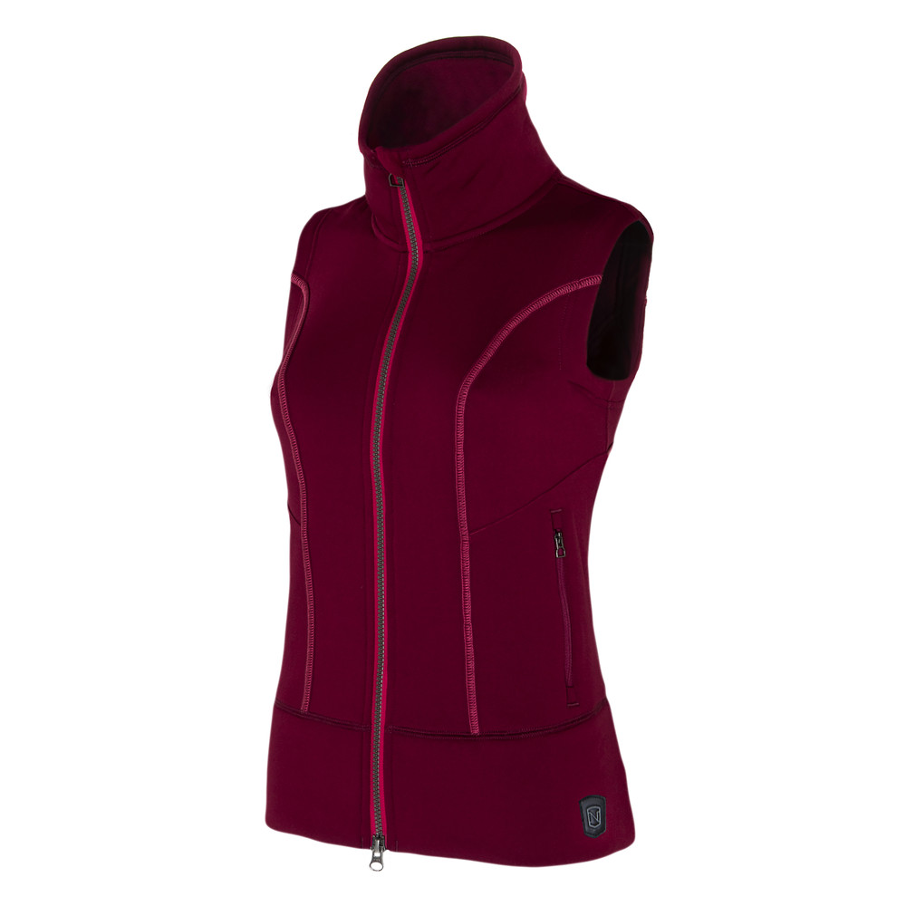 Explorer Fleece Vest Cranberry